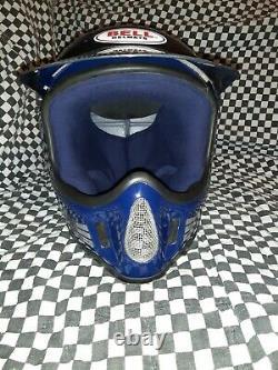 Vintage BELL MOTO 4 MOTO CROSS HELMET 7 3/8 VGC aria shoei Buco blue/black