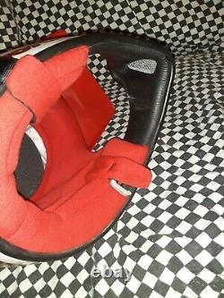 Vintage BELL MOTO 4 MOTO CROSS HELMET 7 3/8 VGC aria shoei Buco white /red