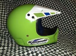 Vintage BELL MOTO 4 MOTO CROSS HELMET 7 5/8 VGC Kawasaki ATV Racing