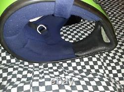 Vintage BELL MOTO 4 MOTO CROSS HELMET 7 5/8 VGC WITH VISOR Kawasaki