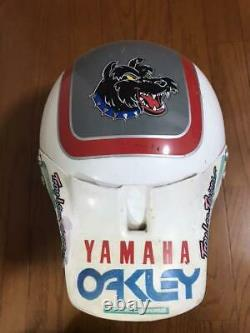 Vintage BELL MOTO-4 Motocross Helmet Rick Johnson Reprica Size L Used