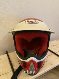 Vintage BELL MOTO-4 Motocross Helmet YAMAHA Damon Bradshaw RJ Size 7 1/4