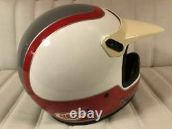 Vintage BELL MOTO-4 Motocross Helmet YAMAHA Damon Bradshaw RJ Size 7 3/4