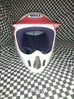 Vintage BELL MOTO 4 sl HELMET VGC WITH VISOR, motocross