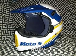 Vintage BELL MOTO 5 MOTO CROSS HELMET 7 1/4. VGC WITH VISOR 85