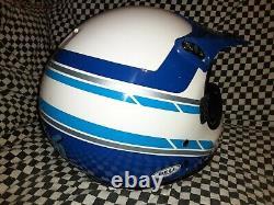 Vintage BELL MOTO 5 MOTO CROSS HELMET 7 3/8 VGC WITH VISOR 85