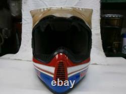 Vintage BELL MOTO-5 Motocross Helmet Rick Johnson Reprica Size S Used