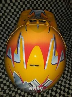 Vintage BELL MOTO 6 MOTO CROSS HELMET VGC WITH VISOR 90 7 3/8