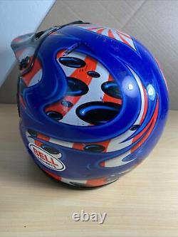 Vintage BELL MOTO 7 PRO Moto Cross Jeremy McGrath Helmet With Visor Size Large