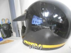 Vintage BELL Moto 3 Black Yellow MX Motocross Motorcycle 7 5/8 Helmet AHRMA