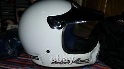 Vintage BELL Moto 4 Motorcycle Helmet MOTOCROSS FORCE FLOW, Bag & Box 7 1/2