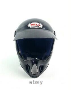 Vintage Bell MOTO 4 Motocross Motorcycle Helmet with Visor Black Size 7 1/4
