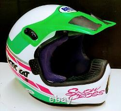 Vintage Bell MOTO 5 Snow Cross Artic Cat Motocross Dirtbike BMX Helmet with Visor