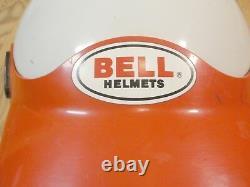Vintage Bell Moto 3 Pro Motocross ATV Helmet Red White with Red Bell Visor sz XL