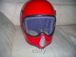 Vintage Bell Moto 3 Pro Motocross Red Helmet 7 1/2