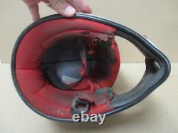 Vintage Bell Moto 4 Moto Cross Helmet aria shoei Buco white /red