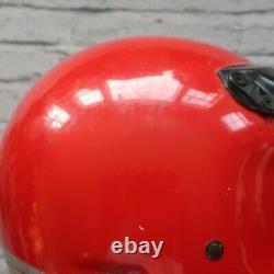 Vintage Bell Moto 4 Motorcycle Full Face Helmet Red Motocross Star