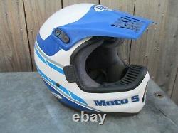 Vintage Bell Moto 5 Helmet 1989 MX Motocross Motorcycle 7 1/8 / 57 Dirt Bike