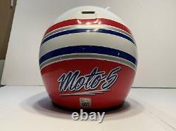 Vintage Bell Moto 5 Motocross MX Helmet 1989 White & Red with Vent Duct Visor