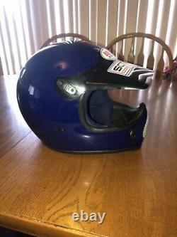 Vintage Bell Moto Motocross Dirtbike Helmet 1979 Snell Rare Mint