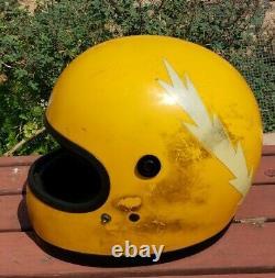 Vintage Bell Moto Star 2 II Motorcycle Full Face Helmet 1975 SNELL 7 1/2 70s