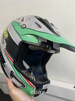 Vintage Bell Motocross Helmet Splitfire Pro Circuit Kawasaki