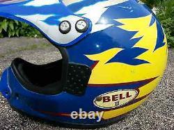 Vintage Bell Motto 2 II Motocross MX Motorcycle Helmet