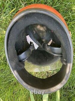 Vintage Bell Star Orange Motorcycle Motocross Helmet 7 3/8