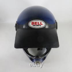 Vintage Blue 1986 Bell Moto 4 Force Flow Motorcycle Motocross Helmet