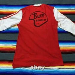 Vintage Buco Motorcycle Jersey Size M Red/ White Viking Buco Helmets NM