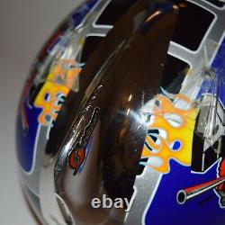 Vintage Doug Henry Shoei VFX-R Motocross MX Helmet with TLD Stabilizer Med fox