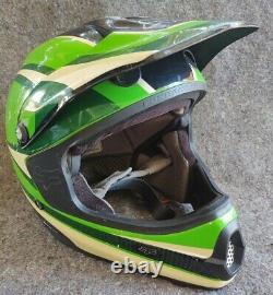 Vintage Green 1989 Fox Racing Pilot Motocross Supercross Helmet XXL