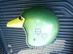 Vintage Green Helmet Motocross Fox Racing Dirtbike Dirt Bike Fox