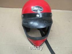 Vintage Griffin BMX Full Face Helmet Motocross Dirt Bike Childs