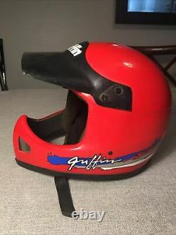 Vintage Griffin GX-707 GX707 BMX or Motorcross Helmet size Large