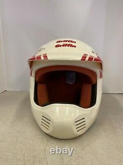 Vintage Griffin Pro Line GX747 BMX Motocross Helmet Full Face XL Extra Large