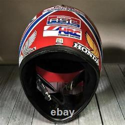 Vintage HONDA Motocross Helmet XL-1 Tricolor Made by SHOEI Size L 70s 80s Rare