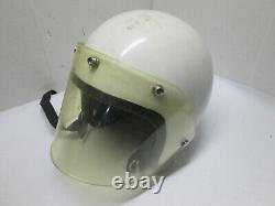 Vintage Helmet White OLD Motorcycle Helmet Motocross AS IS NO NAME ILC BELL