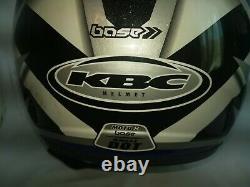 Vintage KBC Helmet Racing MOTO-X base Snell DOT Adult Size XL WithVisor