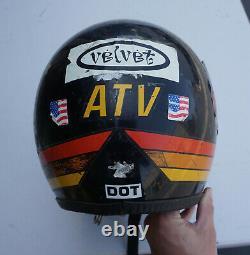 Vintage Maxon Black 3 Stripes Full Face Motorcycle MX Motocross Helmet Stickers