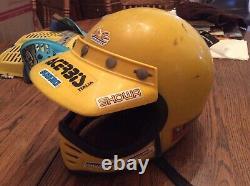 Vintage Maxon Moto Full Face Motorcycle Motocross Helmet Visor Moto 3 Universal