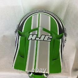 Vintage Motocoss Helmet HJC LT-X4 X-Small Green Display Only