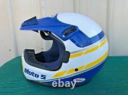 Vintage Motocross Bell Moto 5 Helmet 7-3/4 size 62cm X-Large