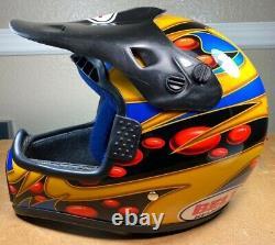 Vintage Motocross Helmet BELL MOTO-6 Jeremy McGrath Model Size Small ShowTime