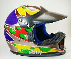 Vintage Motocross Helmet BELL MOTO Jeremy McGrath Youth Size Large ShowTime