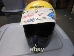 Vintage Motocross MX BMX Full Face Helmet with Dyno Moto Peak Visor