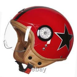 Vintage Motorcycle Helmet 3/4 Open face helmet Retro Capacete motocross casque
