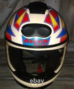 Vintage NOLAN N60 motocross, enduro, biker, motorcycle HELMET 10-96 VERY RARE
