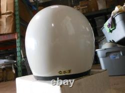 Vintage NOS Shoei Size Large White Open Face Motocross Racing Helmet DS D-3 D-3A