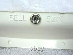 Vintage Nos 70's Bell Helmet Visor 3-snap White 520 Motocross Rt Magnum 500tx